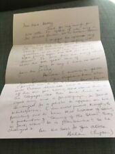 Jeremy Brett, Sherlock Holmes, The Elephant Man Letter Signed By Helen Ryan