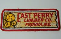 "5"" Old Vintage 1970s EAST PERRY LUMBER COMPANY FROHNA MISSOURI ADVERTISING PATCH"