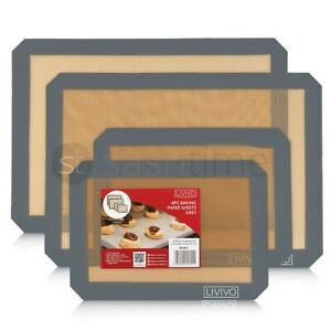 Silicone Fibreglass Non Stick Baking Mat Sheet Tray Oven Liner Rolling Cake Mat