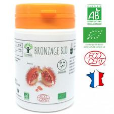 Bronzage bio | 60 gélules | Complément alimentaire | Autobronzant naturel Teint