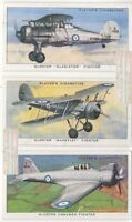 3 Early WWII British Gloster Fighter Aircraft 1930s Ad Trade Cards 4
