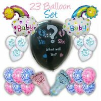 """Giant 36/"""" Gender Reveal Balloon Party pack Confetti//powder Boy//Girl Baby Shower"""