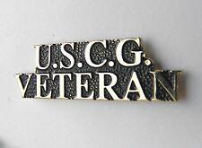 Us Coast Guard Veteran script Pin