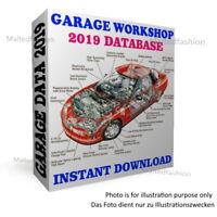 Garage workshop database software 2019🌟Technical dignosetic repair data