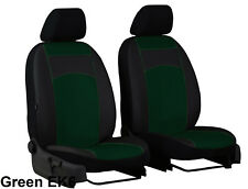 ECO LEATHER TAILORED FRONT SEAT COVERS FOR NISSAN NAVARA 4 NP300 2015 ONWARDS