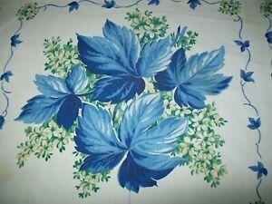 VINTAGE WILENDUR TABLECLOTH  FLOWERS & LEAVES