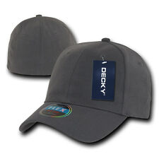 Charcoal Gray Plain Solid Blank Flex Baseball Fit Fitted Ball Cap Caps Hat Hats