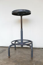 Garrett Lift-Lok Vintage Industrial Adjustable Stool - Blue / Steel