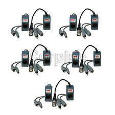5 Pair Audio Video Power Balun Network Transceivers for CCTV Security Camera 1TE