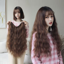 Women Fashion 60cm Curly Party Wavy Hair Anime Wigs Lady Synthetic Hair Long Wig