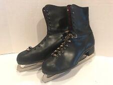 Vintage Men's Leather Ice Skates Size 10 (Sheffield Steel Blades) England