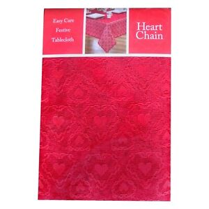 Heart Chain Red Lace Tablecloth - Celebrate Weddings Showers Valentine's Day....