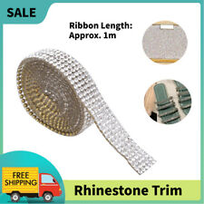 1m Rhinestone Trim Ribbon Hot-Fix Chain Trim Garment Accessories Craft Decor