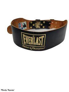 VINTAGE EVERLAST Leather Weight Lifting Belt Model 1012 Size Large - XL 33-42
