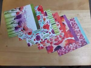 Stampin Up! PEACEFUL POPPIES 12 sheets 6 x 6 Designer Series Paper