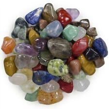 """Natural Tumbled Brazilian Stone Mix - 25 Pcs - Small Size - 0.75"""" to 1"""" Avg"""