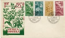 SPANISH GUINEA  (X634) 1959  cover st.  flowers  - f.d.c.
