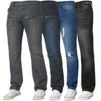 Mens Straight Leg Jeans Regular Fit Denim Trousers Pants Sale All Waist Sizes
