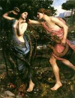 """stunning oil painting 100% handpainted on canvas """"apollo and daphne"""""""