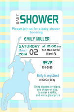 30 Polo Invitation Cards Blue Yellow Baby Boy Shower Invites Sports