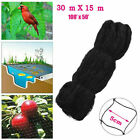 "2"" Anti-Bird Netting Catching Mesh Garden Poultry Aviary Nylon 50x100FT Black"