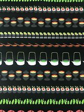 Conveyor Sushi Gray Michael Miller Fabric FQ or More 100%Cotton