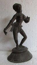 Vintage Handcrafted Hindu Dancing Goddess Brass Sculpture Statue, Tall 9'