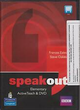 Longman SPEAKOUT Elementary ACTIVE TEACH CD-ROM & DVD Whiteboard Software @New@