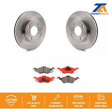 Front Brake TQ Disc Rotors And SIM Semi-Metallic Pads Kit Ford Focus