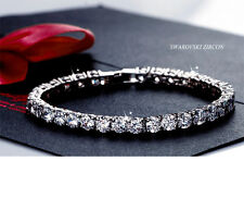White Gold Bangle With Clear Top Grade Zircon Crystal Fashion Bracelet