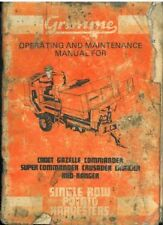 GRIMME POTATO HARVESTER CADET GAZELLE COMMANDER CRUSADER CAVALIER OPS MANUAL