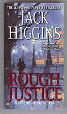 Rough Justice novel Jack Higgins Kosovo spy agent IRA 2008 PB