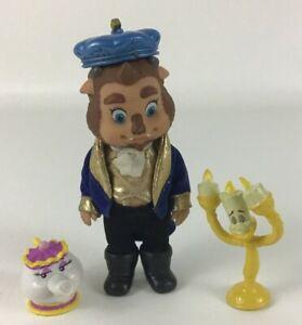 "Beauty and the Beast 5"" Toddler Animator Mini Doll Lot Mrs Potts Lumiere Disney"