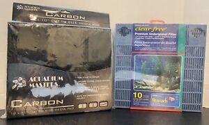 """Penn Plax Clear Free Premium Undergravel Filter 10 Gal & 18x10"""" Carbon Media Pad"""