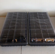 Seed Starting Kit 2 Seed Trays 2 Inserts 2 Dome Lids