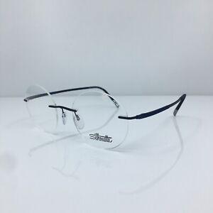 New Silhouette Titan Dynamics Contour Eyeglasses 5540 CF C. 4540 Blue 48-19mm
