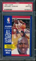 PSA 10 MICHAEL JORDAN 1991-92 Fleer All-Star Chicago Bulls HOF GOAT GEM MINT