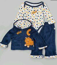 NWT Duck Duck Goose Blue 3 Piece Set, S/S Onsie Pants Jacket Infant Newborn 6-9m