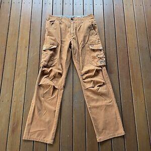 Rusty Size 31 Orange Cargo Pants Straighty 180 Leg Casual Pockets Surf