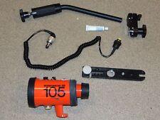 Nikon Nikonos SB 105 Underwater Flash W/ Diffuser & Accessories As Shown
