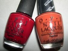 2x Opi Lot *Quarter Of A Cent-Cherry & Did Someone Say Party?* Nail Polish~New