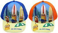 Minions Kappe blau und orange Baseball Cap Cappy für Kinder Sonnen Schutz Neu