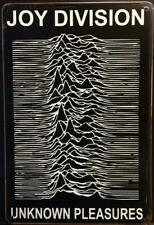 JOY DIVISION UNKNOWN PLEASURES RUSTY MUSIC TIN SIGNS (20x30cm)