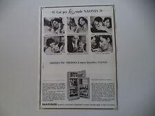 advertising Pubblicità 1967 FRIGORIFERO NAONIS LEI