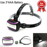 COB Led Headlight Bright Headlamp AAA Batteries Torch Zoomable Lantern Camping