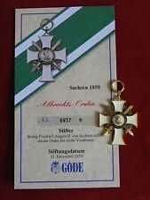 GÖDE Orden Sachsen 1850 - Albrechts Orden + Zertifikat Nr.6937