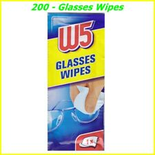 200 x CLEANING WIPES W5 Clean Glasses Cameras Binoculars Screen TV  Cell phones
