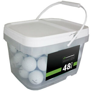 48 Titleist Pro V1x 2018 Near Mint Used Golf Balls AAAA *In a Free Bucket!*SALE!
