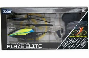 NEW Blaze Elite Remote Control Helicopter Drone & Landing Zone Up to 32ft Yellow