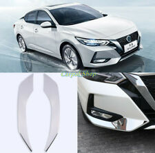 2PCS For Nissan Sentra 2020+ Chrome Front Bumper Sides Protection Strip Cover